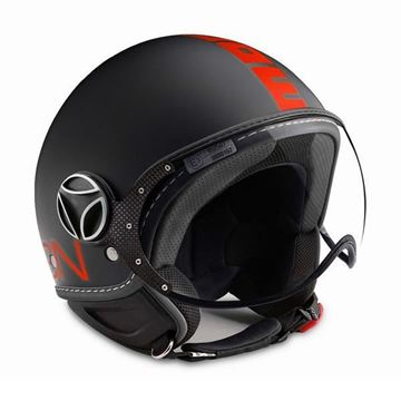 Immagine di CASCO FIGHTER BLACK MATT/ORANGE MOMO