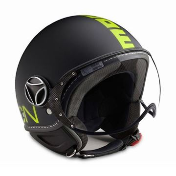 Immagine di CASCO FIGHTER BLACK MATT/YELLOW FLUO MOMO