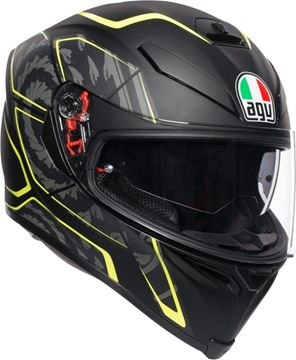 Immagine di CASCO K5 S TORNADO BLACK/YELLOW FLUO AGV