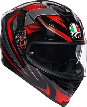 Immagine di CASCO K5 S HURRICANE 2.0 BLACK/RED AGV
