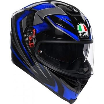 Immagine di CASCO K5 S HURRICANE 2.0  BLACK/BLUE AGV