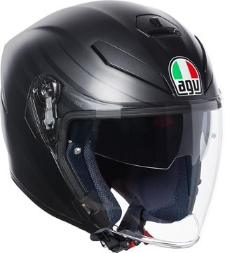 Immagine di CASCO K 5 JET ORBITER MATT BLACK/GREY AGV
