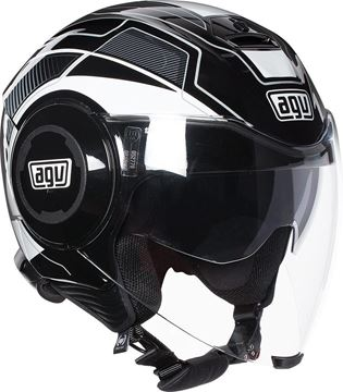 Immagine di CASCO FLUID  JET SOHO BLACK/WHITE AGV