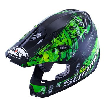 Immagine di CASCO SY MR JUMP MAORI GREEN SUOMY