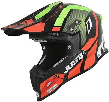 Immagine di CASCO J12 VECTOR RED LIME CARBON JUST1